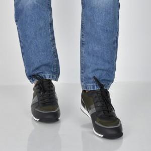 Pantofi HUGO BOSS kaki, 7622, din piele ecologica