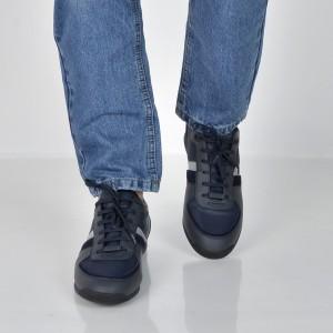 Pantofi HUGO BOSS bleumarin, 7622, din piele ecologica