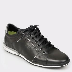 Pantofi sport HUGO BOSS negri, 8040, din piele naturala