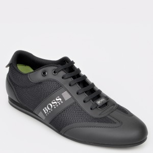 Pantofi HUGO BOSS negri, 438, din piele ecologica