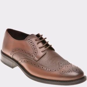 Pantofi Otter Maro, 775, Din Piele Naturala
