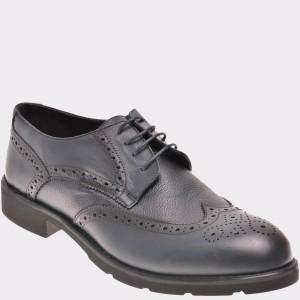 Pantofi Otter Bleumarin, 495, Din Piele Naturala