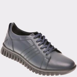 Pantofi Otter Bleumarin, 89450, Din Piele Naturala