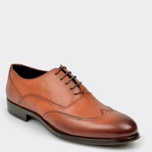 Pantofi OTTER maro, 8935, din piele naturala
