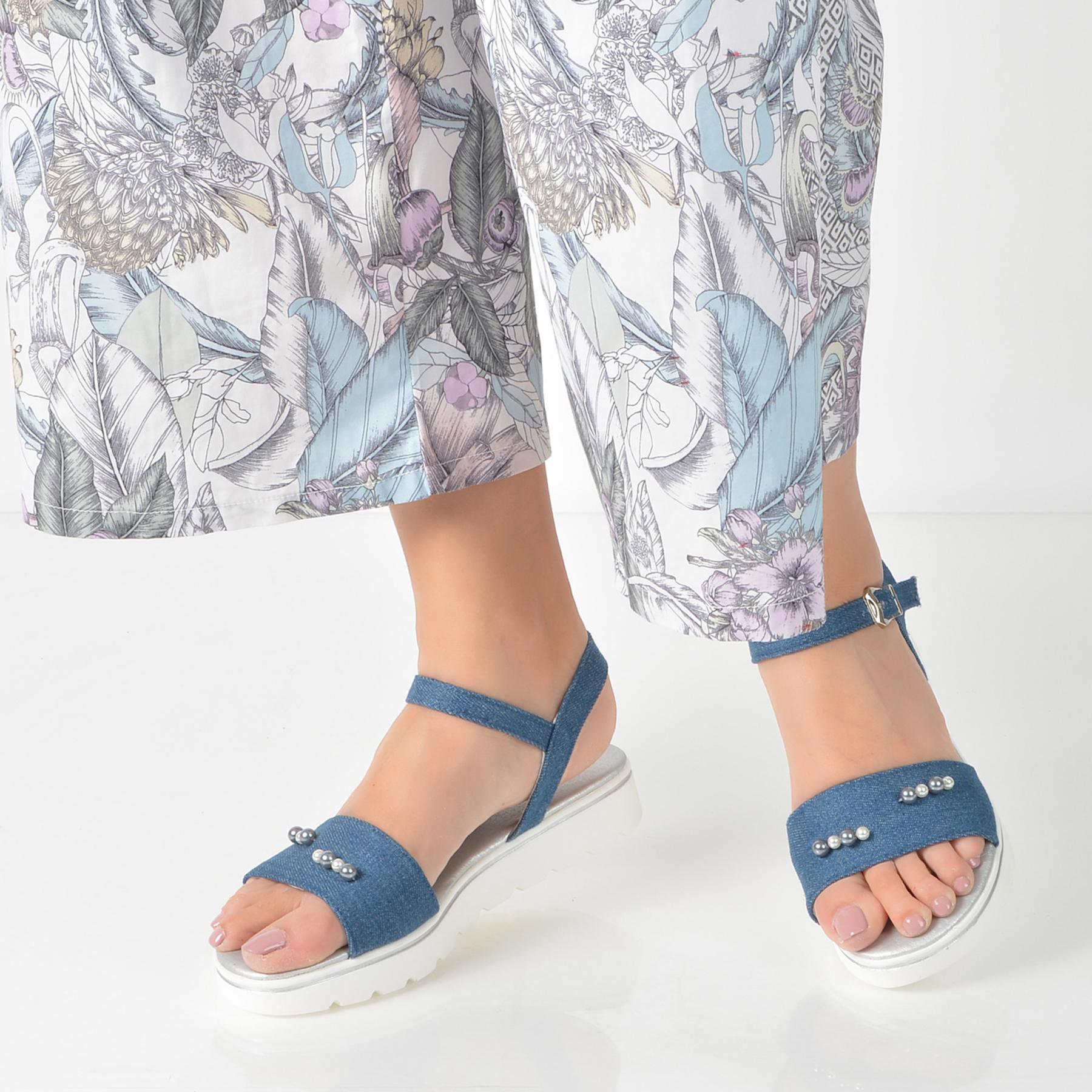 Sandale Image Bleumarin, Dsz1702, Din Material Textil