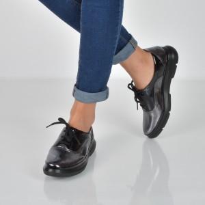 Pantofi FLAVIA PASSINI gri, 435210, din piele naturala lacuita