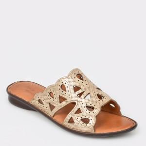 Papuci FLAVIA PASSINI bej, 713518, din piele naturala