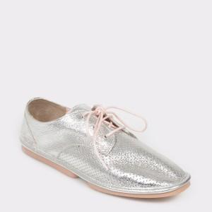 Pantofi FLAVIA PASSINI argintii, 658202, din piele naturala