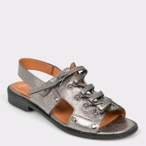 Sandale FLAVIA PASSINI argintii, 24400, din piele naturala