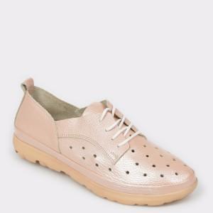 Pantofi IMAGE nude, 530, din piele naturala