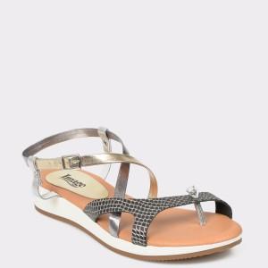 Sandale IMAGE negre, N1170Es, din piele naturala