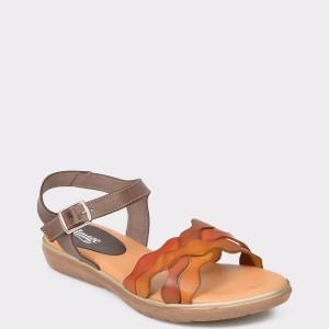 Sandale IMAGE maro, N1226Em, din piele naturala