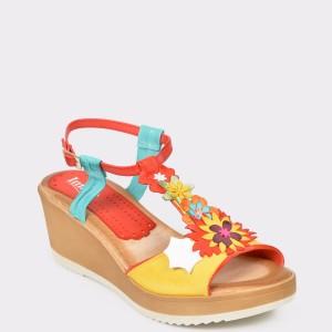 Sandale IMAGE multicolore, N544Se, din piele naturala
