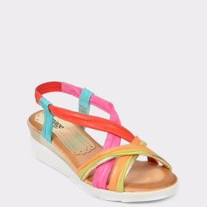 Sandale IMAGE multicolore , N61993, din piele naturala