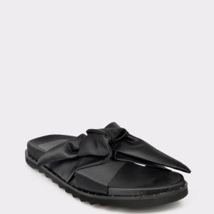 Papuci IMAGE negri, N2006S, din material textil
