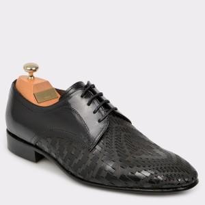 Pantofi LE COLONEL negri, 48725, din piele naturala
