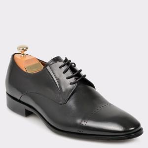Pantofi LE COLONEL negri, 50818, din piele naturala