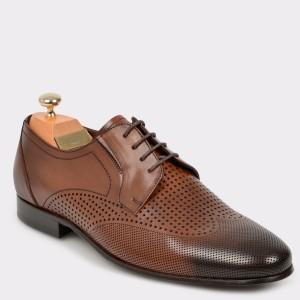 Pantofi LE COLONEL maro, 60006, din piele naturala