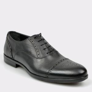Pantofi OTTER negri, K012, din piele naturala