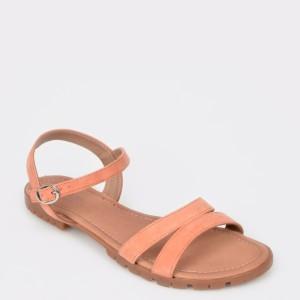 Sandale IMAGE portocalii, 10588, din piele intoarsa