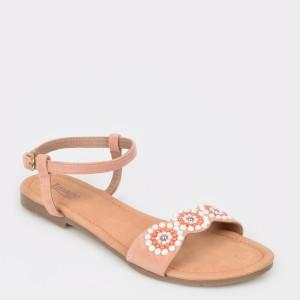 Sandale IMAGE nude, Sh01, din piele ecologica