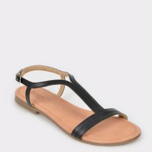 Sandale IMAGE negre, Sh02, din piele naturala
