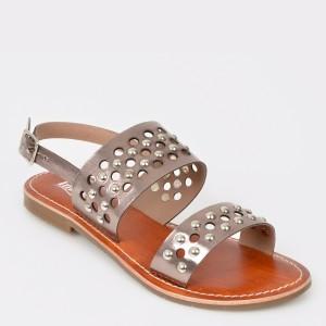 Sandale IMAGE argintii, 11187, din piele naturala