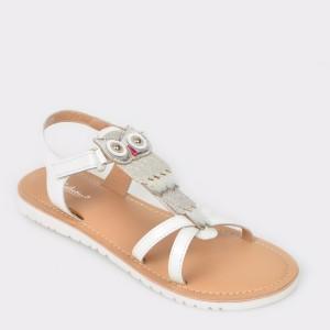 Sandale pentru copii SELECTION KIDS albe, 11155, din piele naturala