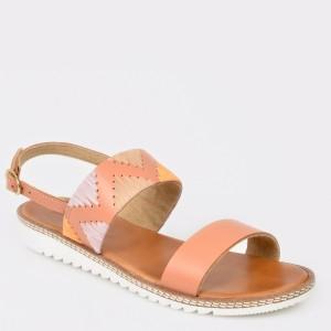 Sandale IMAGE nude, 11130, din piele naturala
