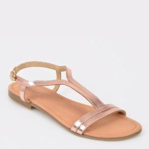 Sandale IMAGE nude, Sh02, din piele naturala