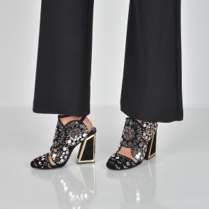 Pantofi Kat Maconie For Epica Negri, Frida, Din Piele Intoarsa