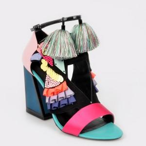 Sandale KAT MACONIE FOR EPICA multicolore , Aya, din piele naturala si material textil