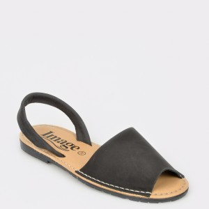 Sandale IMAGE negre, 4345, din nabuc