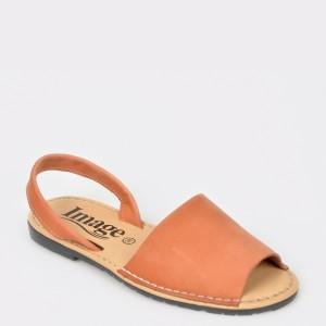 Sandale IMAGE maro, 4345, din nabuc