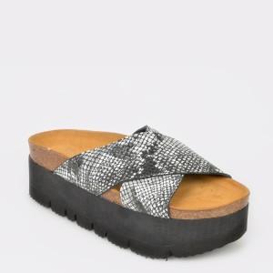 Papuci FLAVIA PASSINI negri, 4460, din piele naturala