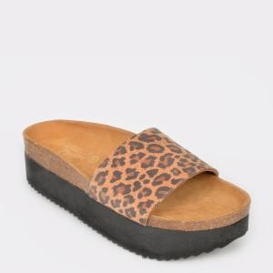 Papuci FLAVIA PASSINI maro, 4040, din piele naturala