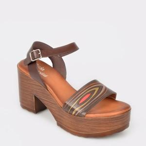 Sandale FLAVIA PASSINI maro, 4983, din piele naturala