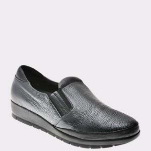 Pantofi Flavia Passini Gri, 220, Din Piele Naturala