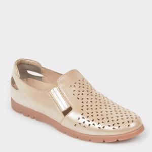 Pantofi FLAVIA PASSINI aurii, 14252, din piele naturala