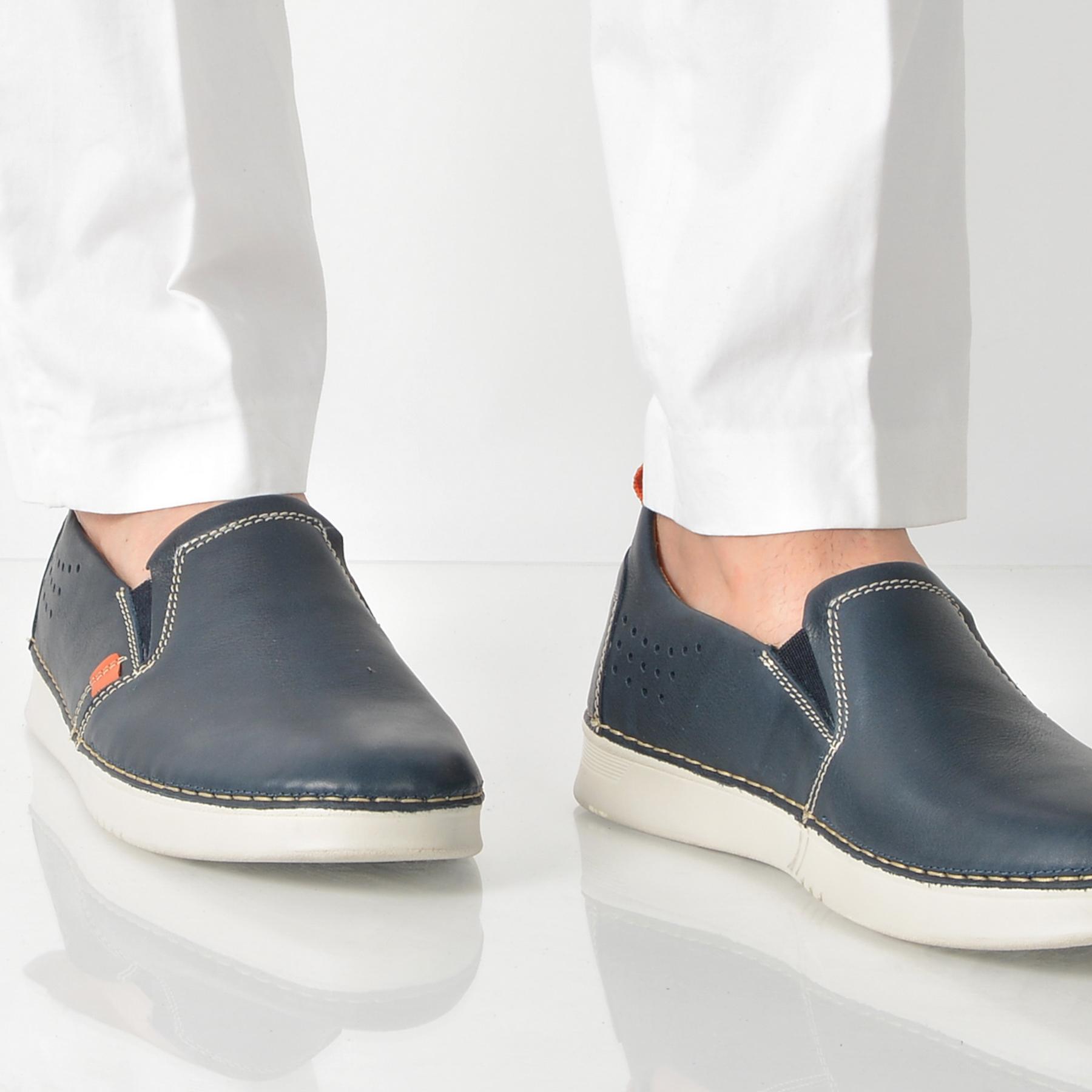 Pantofi Otter Bleumarin, 7453, Din Piele Naturala
