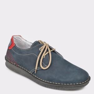 Pantofi OTTER bleumarin, 7886, din nabuc