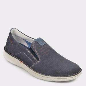 Pantofi OTTER bleumarin, 7783, din piele intoarsa