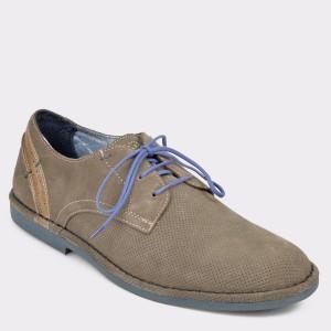 Pantofi OTTER maro, 7517, din piele intoarsa