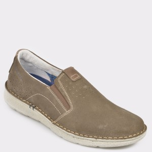 Pantofi OTTER maro, 7783, din piele intoarsa