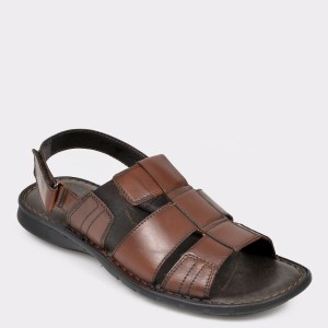 Sandale OTTER maro, 6758, din piele naturala