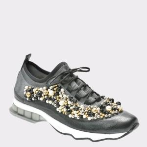 Pantofi Flavia Passini Negri, 396jeky, Din Piele Ecologica