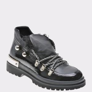 Pantofi Flavia Passini Negri, Gm2123, Din Piele Naturala
