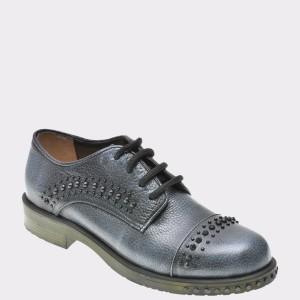 Pantofi Flavia Passini Argintii, 18464, Din Piele Naturala