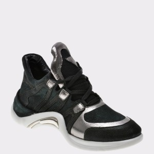 Pantofi Flavia Passini Negri, 122, Din Piele Ecologica