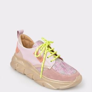 Pantofi sport FLAVIA PASSINI roz, Gm3059, din piele naturala